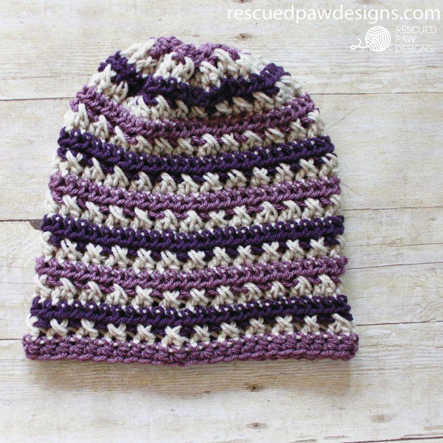 Sugared Plum Slouch Crochet Pattern | Belenes, Gorros y Tejido