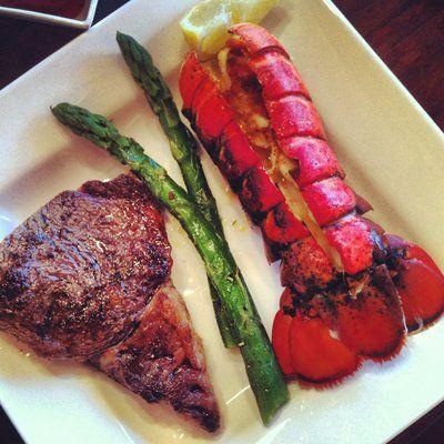 Steak & Lobster dinner, good god #joescrabshack # ...