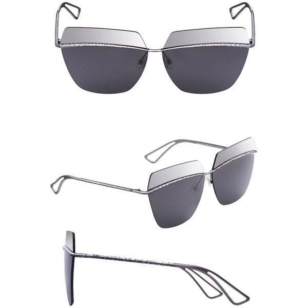6c8b80b43a Pre-owned Dior Metallic 53mm Square Sunglasses Silver silver Grey... (
