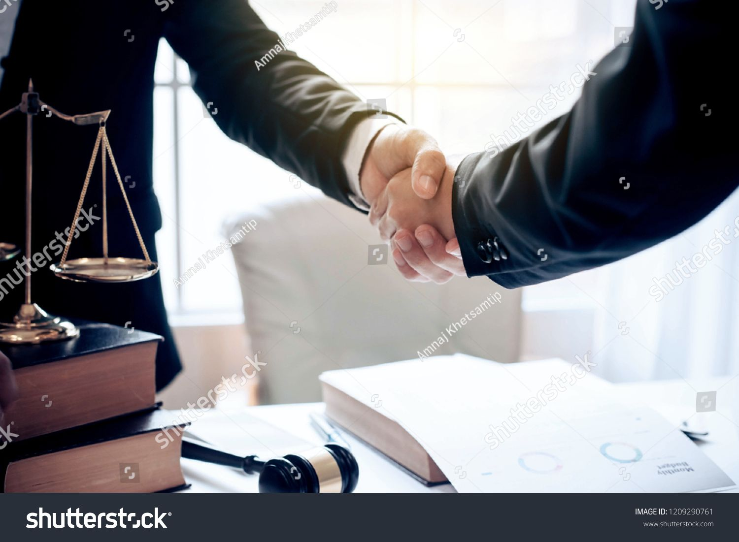 Businessman And Lawyer Shaking Hands Lawyer Businessman Hands