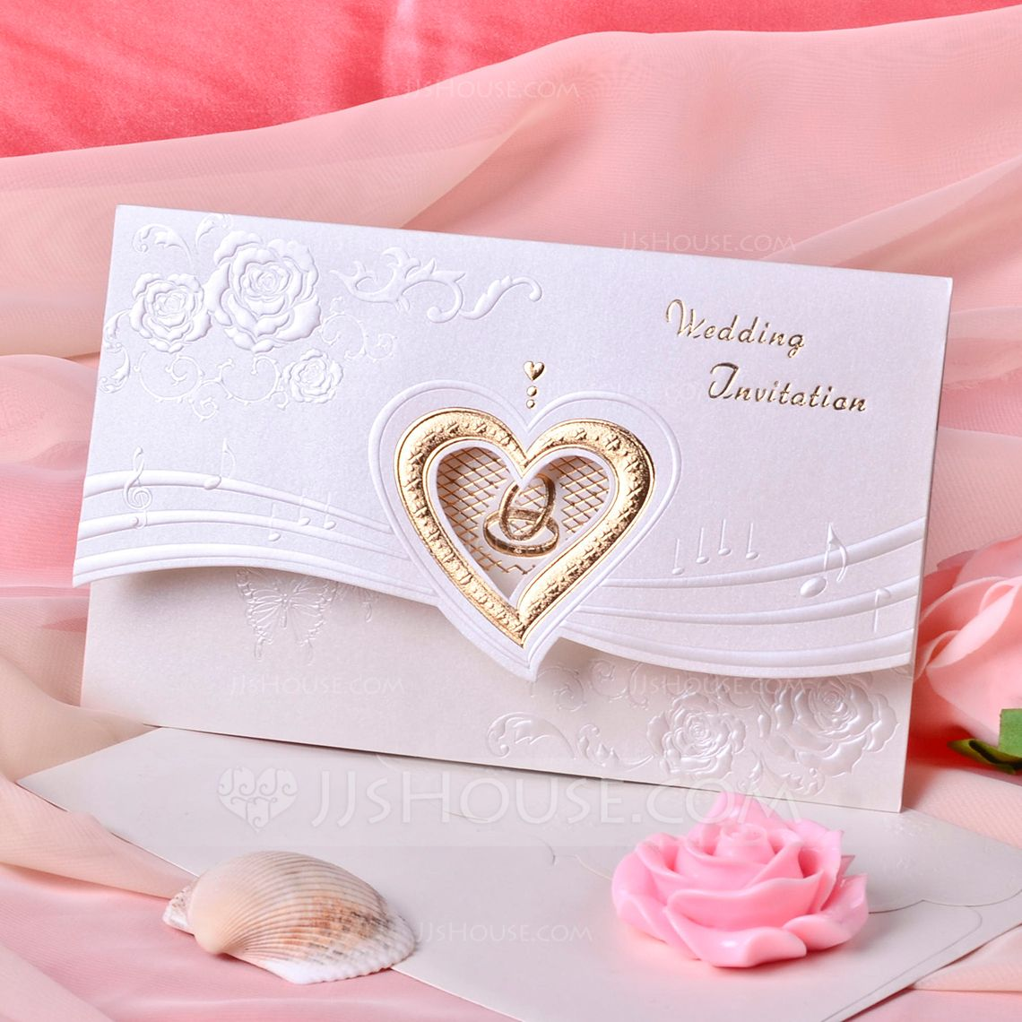 50 White non shed glitter card hearts great for card making invites