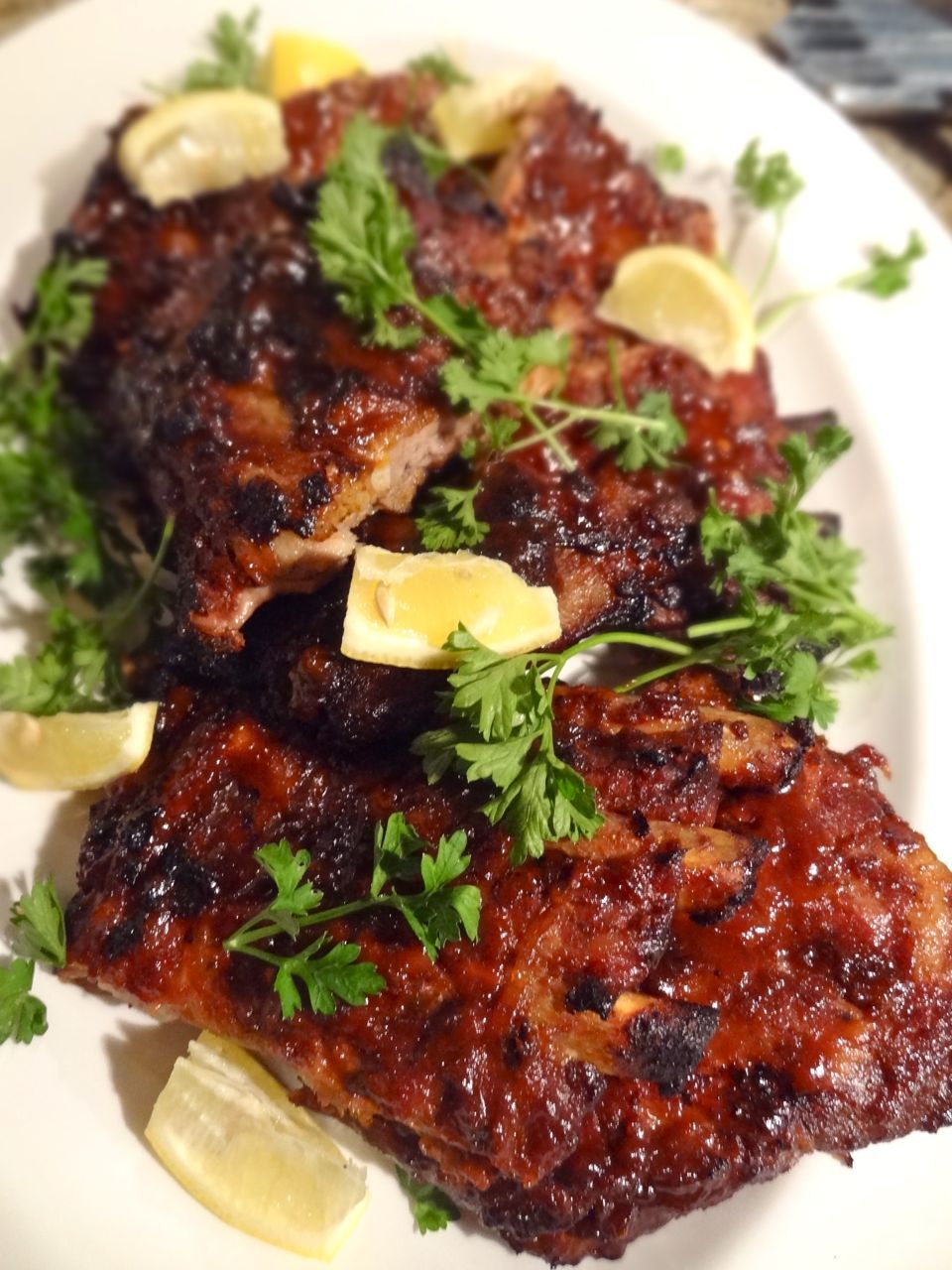scrumpdillyicious ina gartens foolproof ribs with barbecue sauce - Ina Garten Pinterest