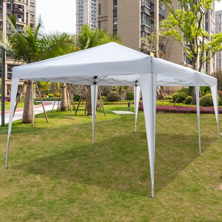 Ktaxon 10 X 20 Easy Pop Up Wedding Party Tent Foldable Gazebo Beach Canopy With Bag Walmart Com Gazebo Beach Canopy Party Tent