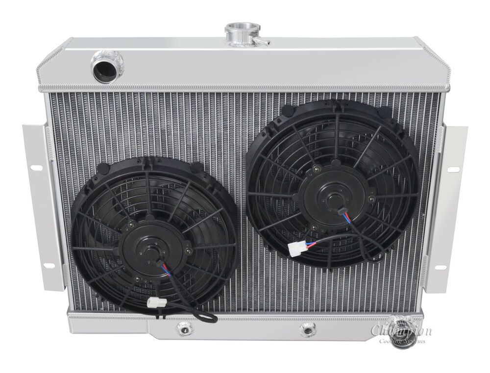 Details About 4 Row Rs Champion Radiator 2 10 Fans For 1970 1985
