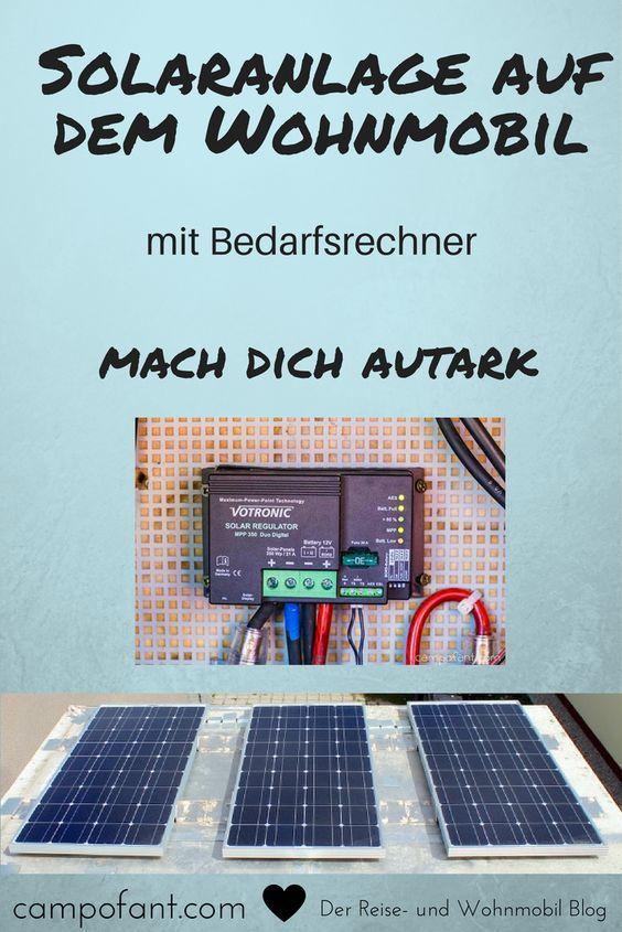 wohnmobil solaranlage berechnen mit dem solarrechner. Black Bedroom Furniture Sets. Home Design Ideas
