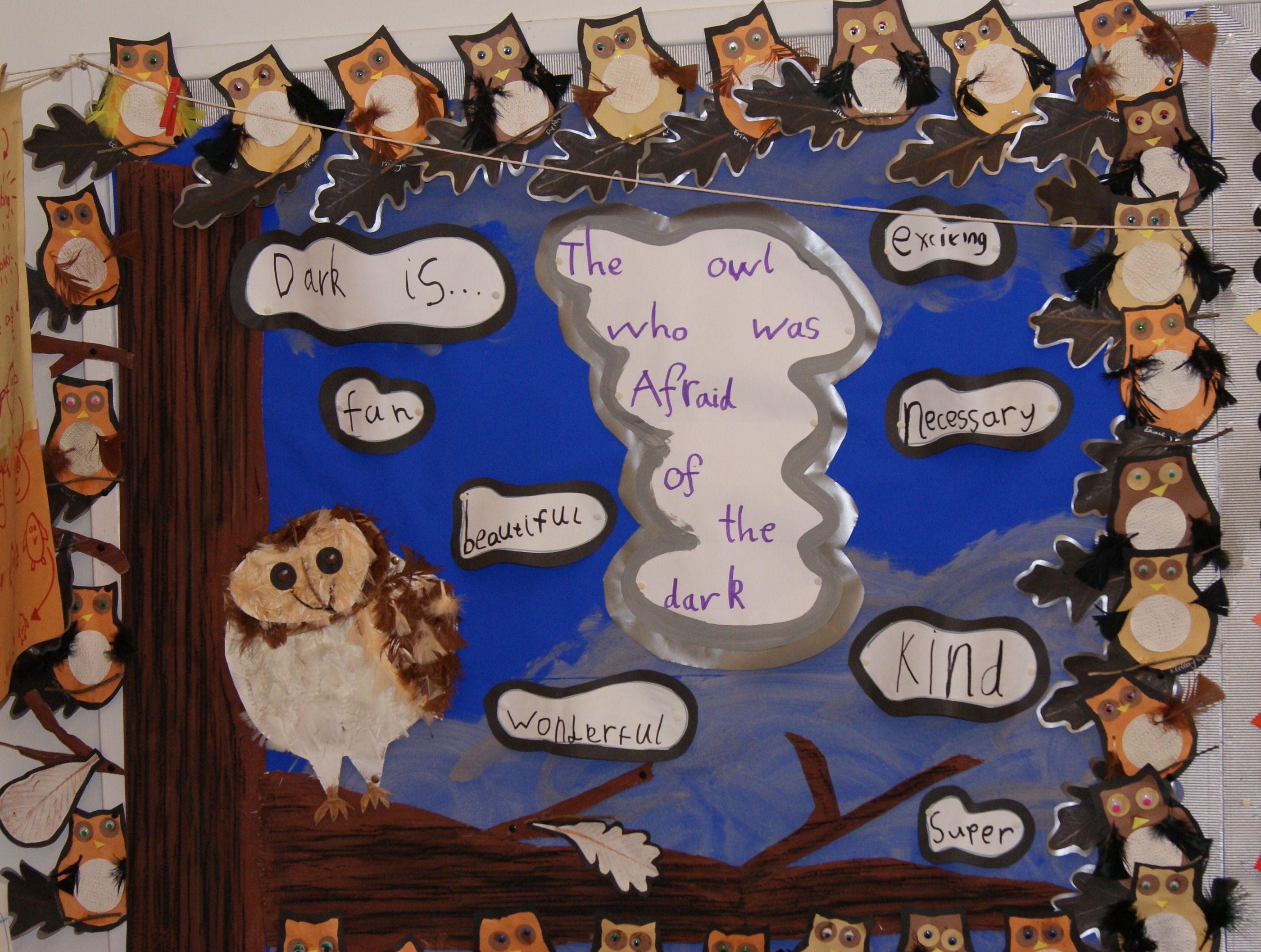 The Owl Who Was Afraid Of The Dark School Display