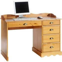 Photo of Colette desk with top in honey-colored Idimex