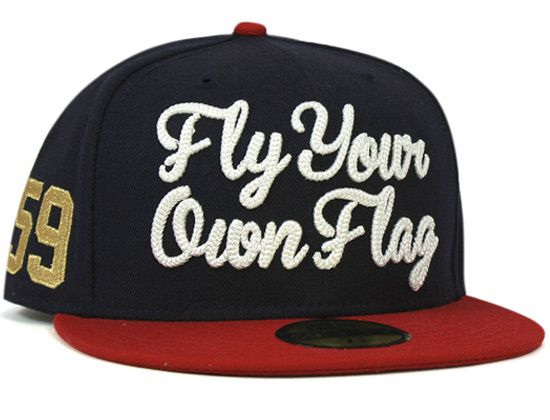 Navy Fly Your Own Flag 59Fifty Fitted Cap by NEW ERA  8170979c23b