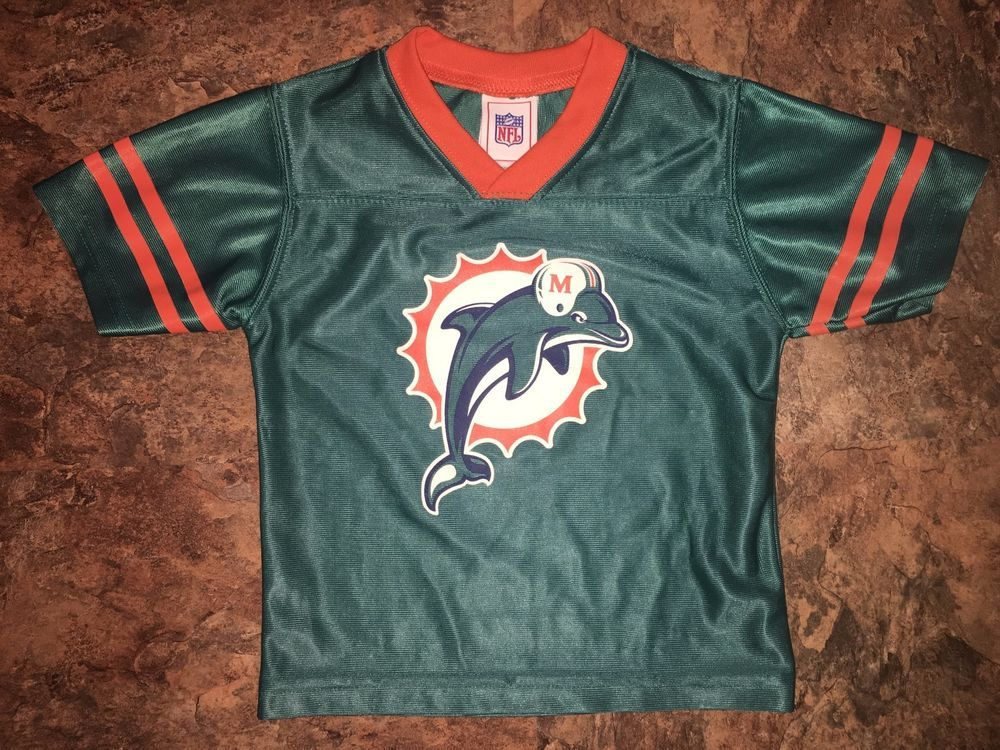 4e1d2e17 Miami Dolphins NFL Jersey Toddler Kids Baby Size 24 Months Vintage ...