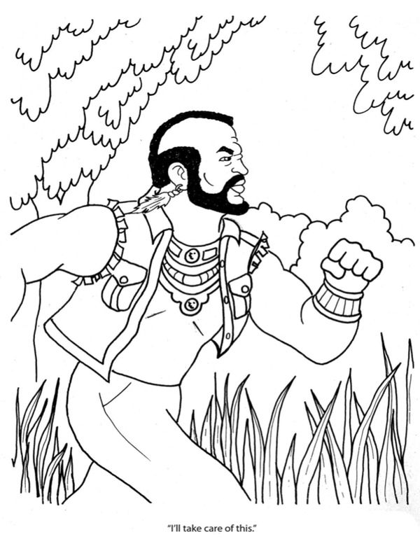 Mr T S Big Gay Coloring Book Geeky Stuff Color