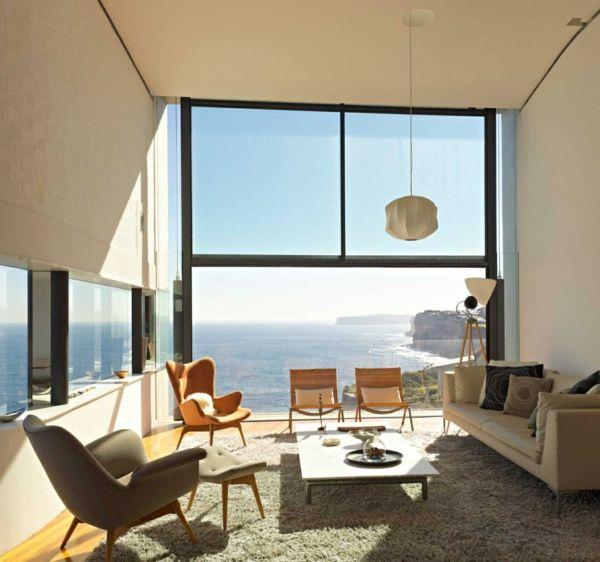 maritimes wohnen wohnzimmer designer stühle | architektur, Hause deko