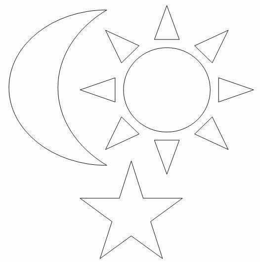 Sol luna estrella