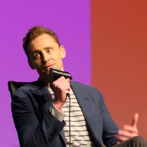 """Tom Hiddleston at the Emmy FYC """"The Contenders"""" event at the DGA Theater, April 10, 2016. Source: https://twitter.com/misslbf/status/719243263790620672"""
