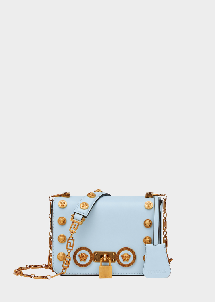 45746eb9396 Small Medusa Stud Icon Bag from Versace Women s Collection. The Icon bag  with Medusa studs