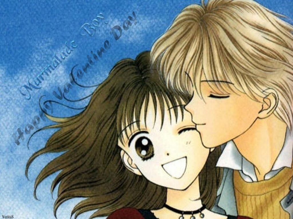Anime Cartoon Love Valentines Day Hd Wallpapers Wallpaper Anime