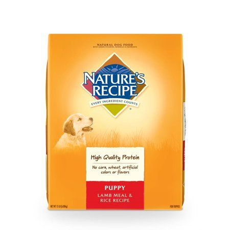 Nature S Recipe Puppy Lamb And Rice Dry Dog 15lb Dog Food