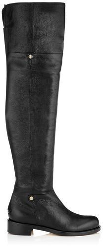 e838bbf973b Jimmy Choo Deron Shiny Leather Over The Knee Biker Boots on shopstyle.com Winter  Boots