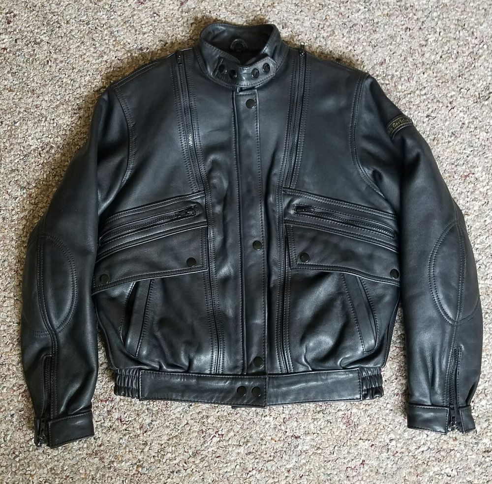 Hein Gericke Echt Leder Womens Black Leather Biker