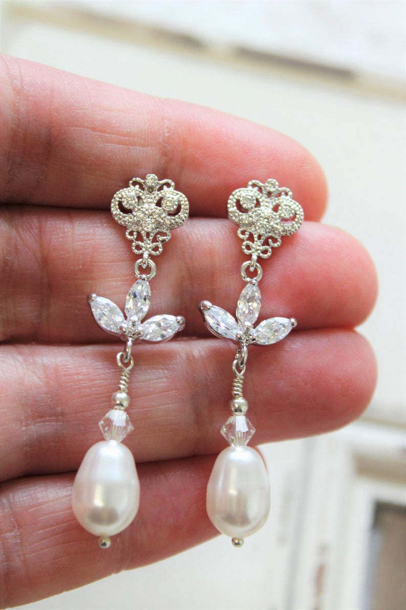 Art Deco Style Earrings Uk Bridal Earrings Wedding Earrings Art Deco Earrings
