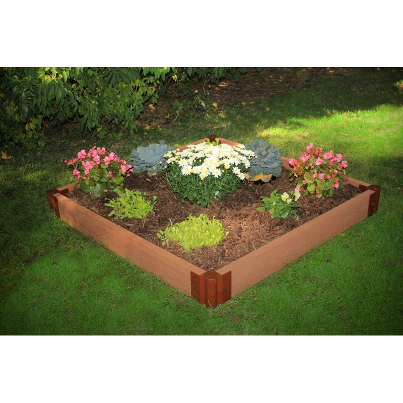 Frame It All 2inch Series Composite Raised Garden Bed Kit