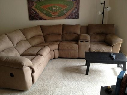 Ashley Furniture 2 Piece Sectional $300 obo ashley amazon mocha 2-piece reclining sectional sofa for
