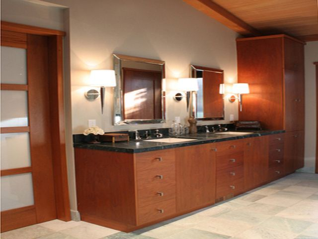 Bathroom Vanity With The Exotic Wooden Bathroom Vanity Cabinets Fascinating Bathroom Vanities At Lowes Design Inspiration