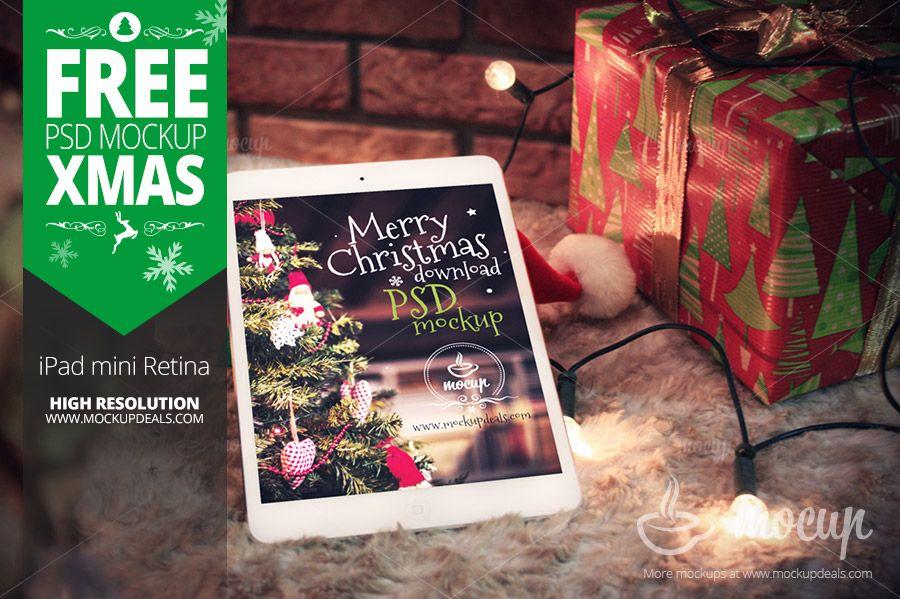 Free iPad Mockup XMAS - Mocup | Premium PSD Mockups, Free PSD ...
