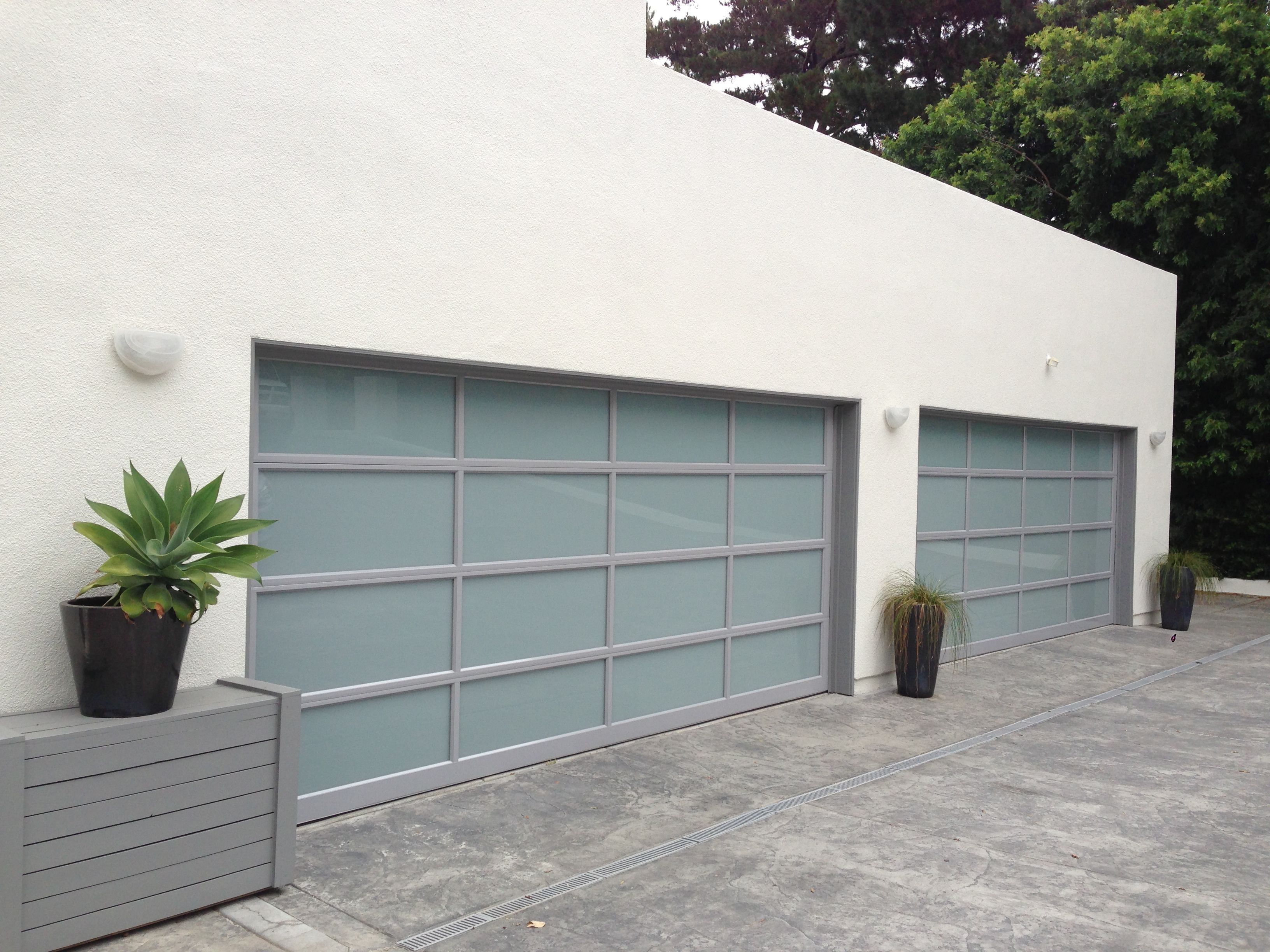 Clopay Avante Collection Glass Garage Doors With Clear