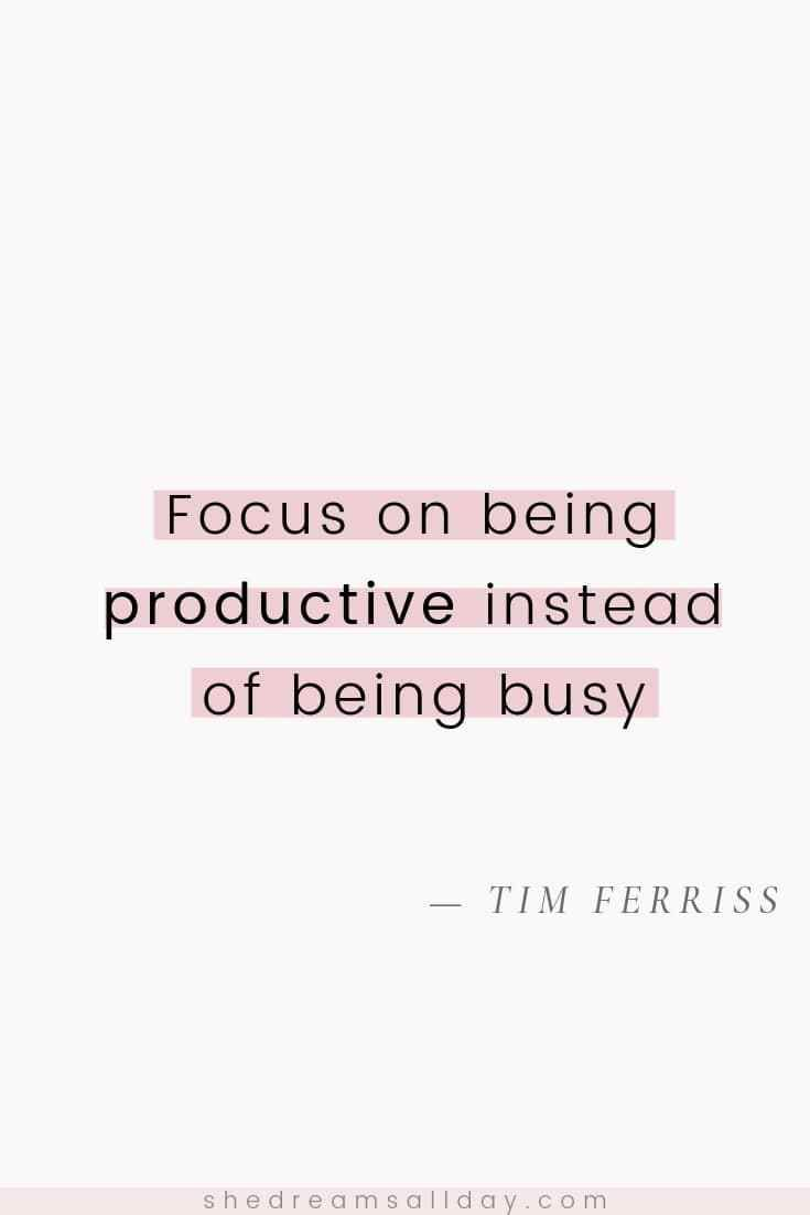 Motivational quotes for productivity - stay focused, avoid procrastination and take action on your dreams.