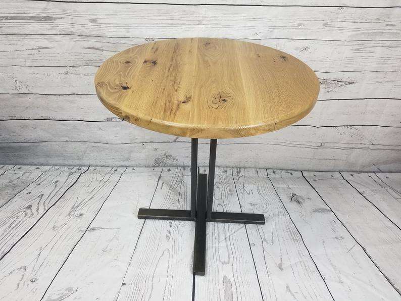30 Quot Wood Bistro Table Wood Table Old Wood Doors White