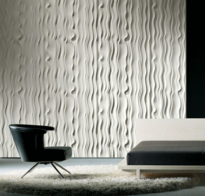 moderne wandpaneele 80 fotos zum erstaunen wanddeko f r ein modernes zuhause. Black Bedroom Furniture Sets. Home Design Ideas