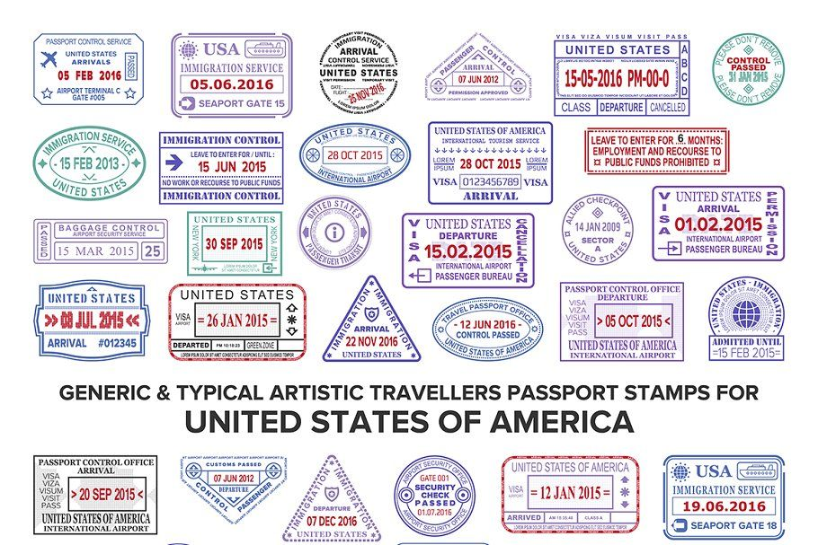 Passport visa stamps for usa in 2020 passport stamps