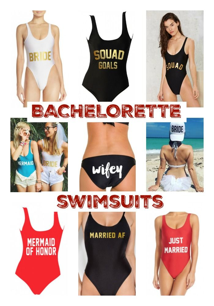 00723ddd08 ... bridal swim squads on. omg these are cute af. 15  Bachelorette Swimsuits  for your  Squad http   aisleperfect.com