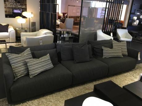 Natuzzi Italia Long Beach Sofa Grey, Furniture Long Beach
