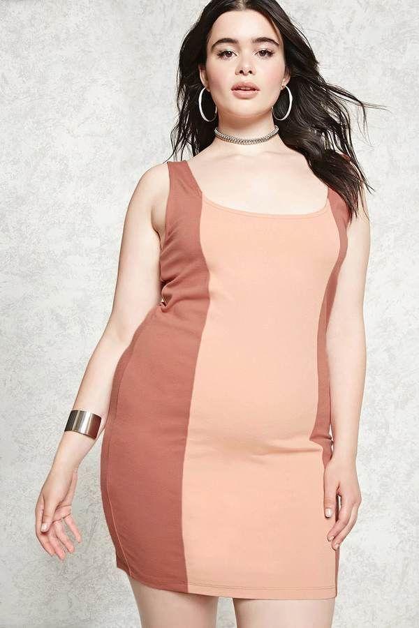 Forever 21 Forever 21 Plus Size Colorblock Dress Colorblock Dress