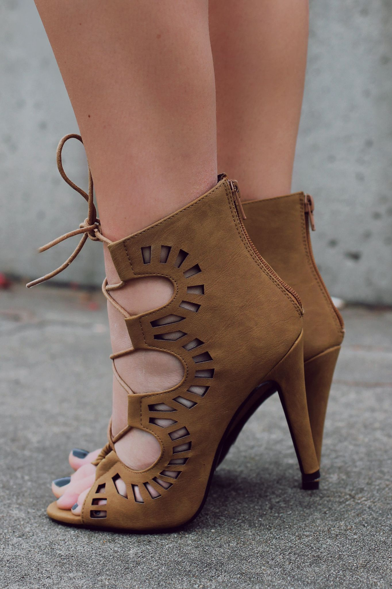 Perforated Lace Up High Heel Kaleen-S – UOIOnline.com: Women's Clothing Boutique