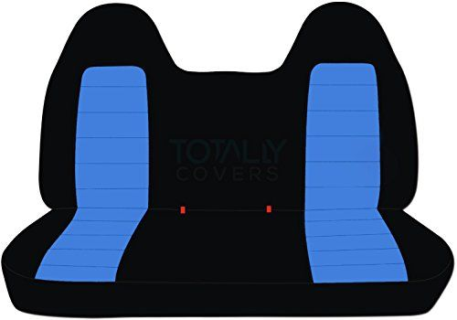 19912000 Ford Rangermazda Bseries Twotone Truck Seat Covers Solid Bench Black And Light Blue 21 Color Truck Seat Covers Golf Cart Seat Covers Bench Seat Covers