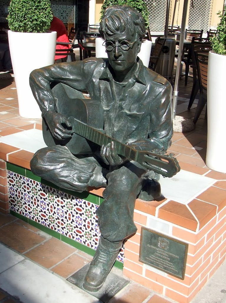 "Almería - statue of John Lennon - photo: Robert Bovington  The reason for the statue is because John Lennon wrote Strawberry Fields Forever in this southeastern city of Spain. He got inspiration for the song in 1966, during the six weeks he spent filming ""How I won the war"". #Almeria #Andalusia #Spain #España #Lennon #Beatles http://bobbovington.blogspot.com.es/2013/05/almeria-by-robert-bovington.html"
