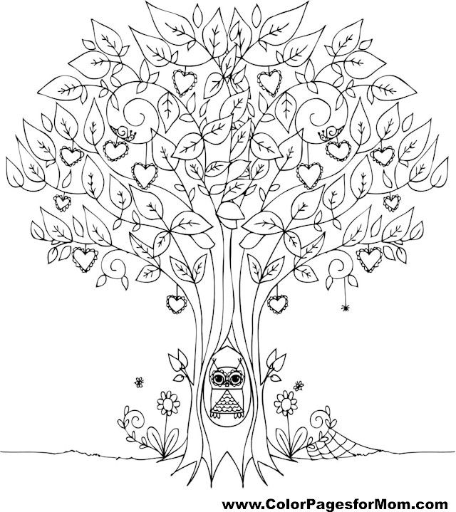 tree coloring page 12