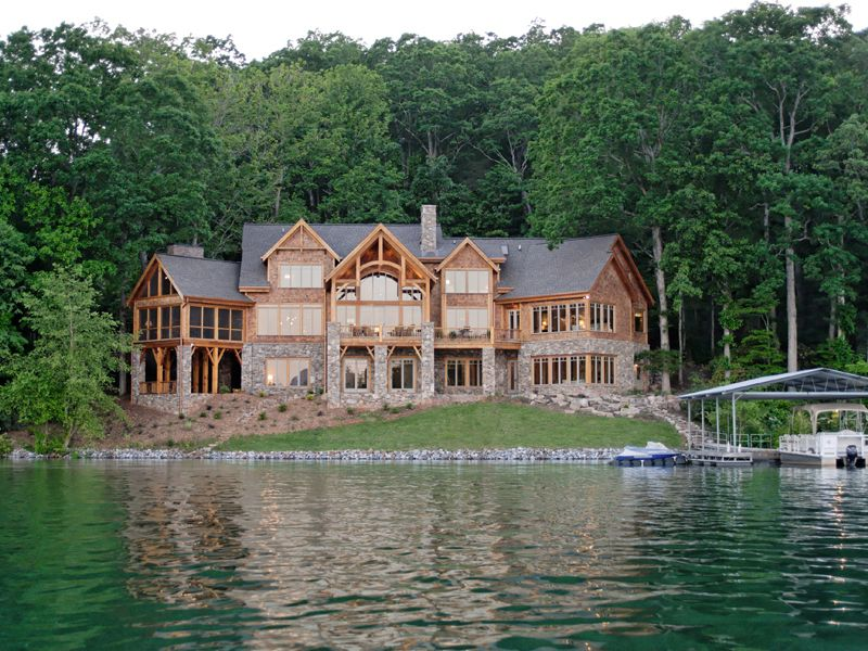 Luxury lake home plans