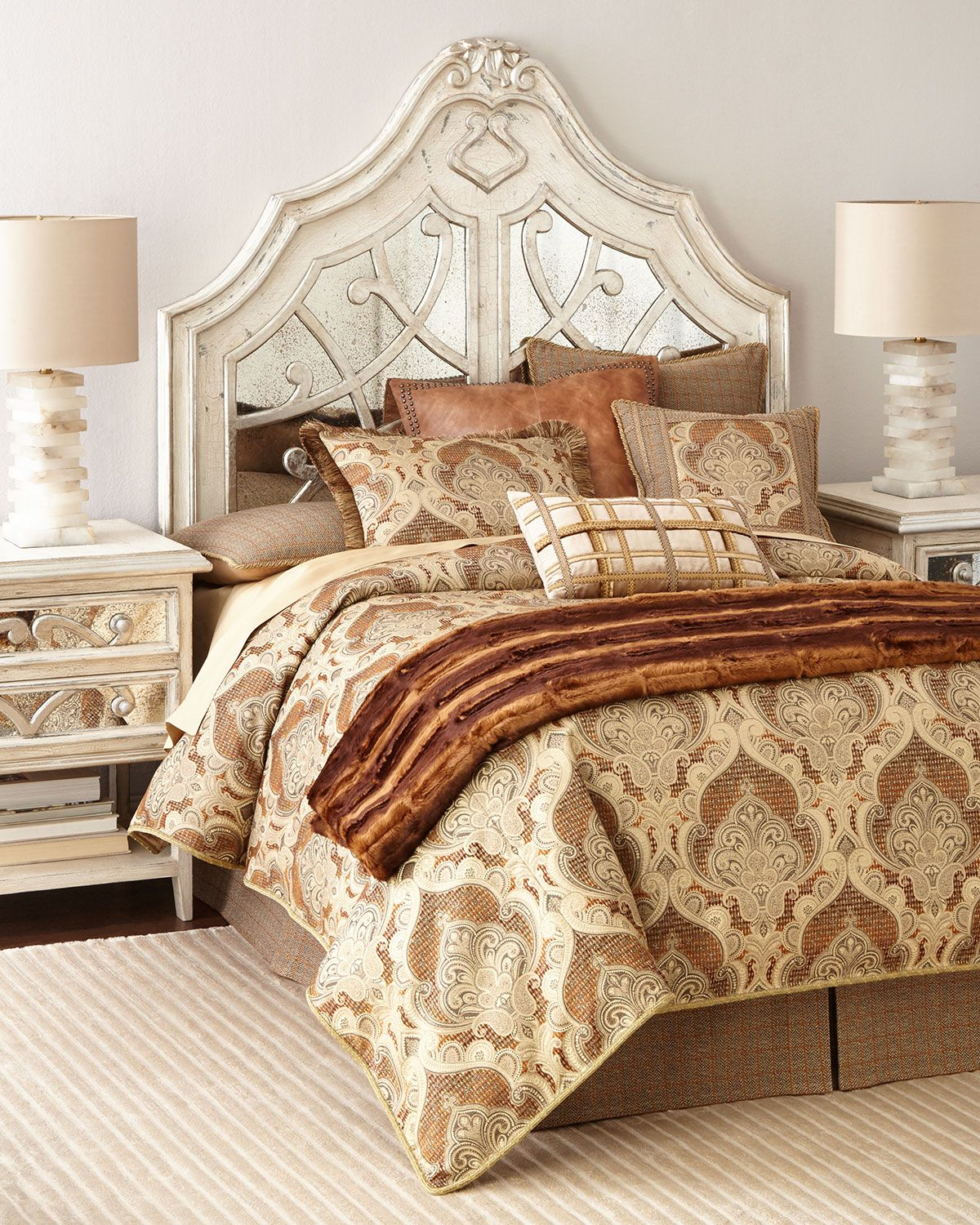 Lynley Mirrored Queen Headboard King headboard, Mirror