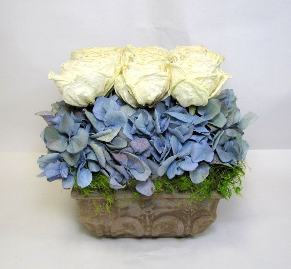 Dried Hydrangea and Roses Arrangement, dried floral #dried flowers, #floralarrangement #summersweetboutique
