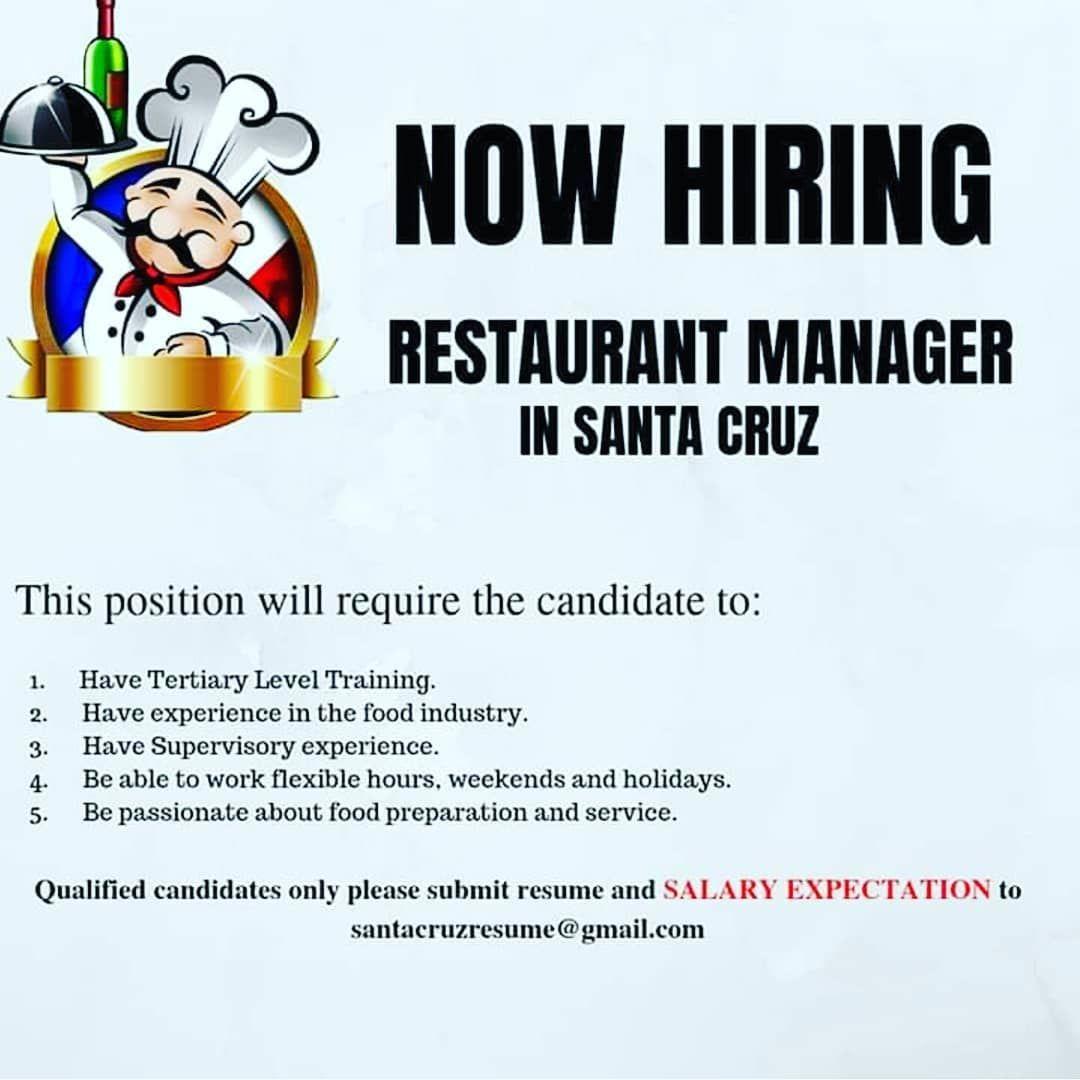 Jobsinjamaica Jobs Jobsearch Nativjobs Restaurant Management Job Search Job