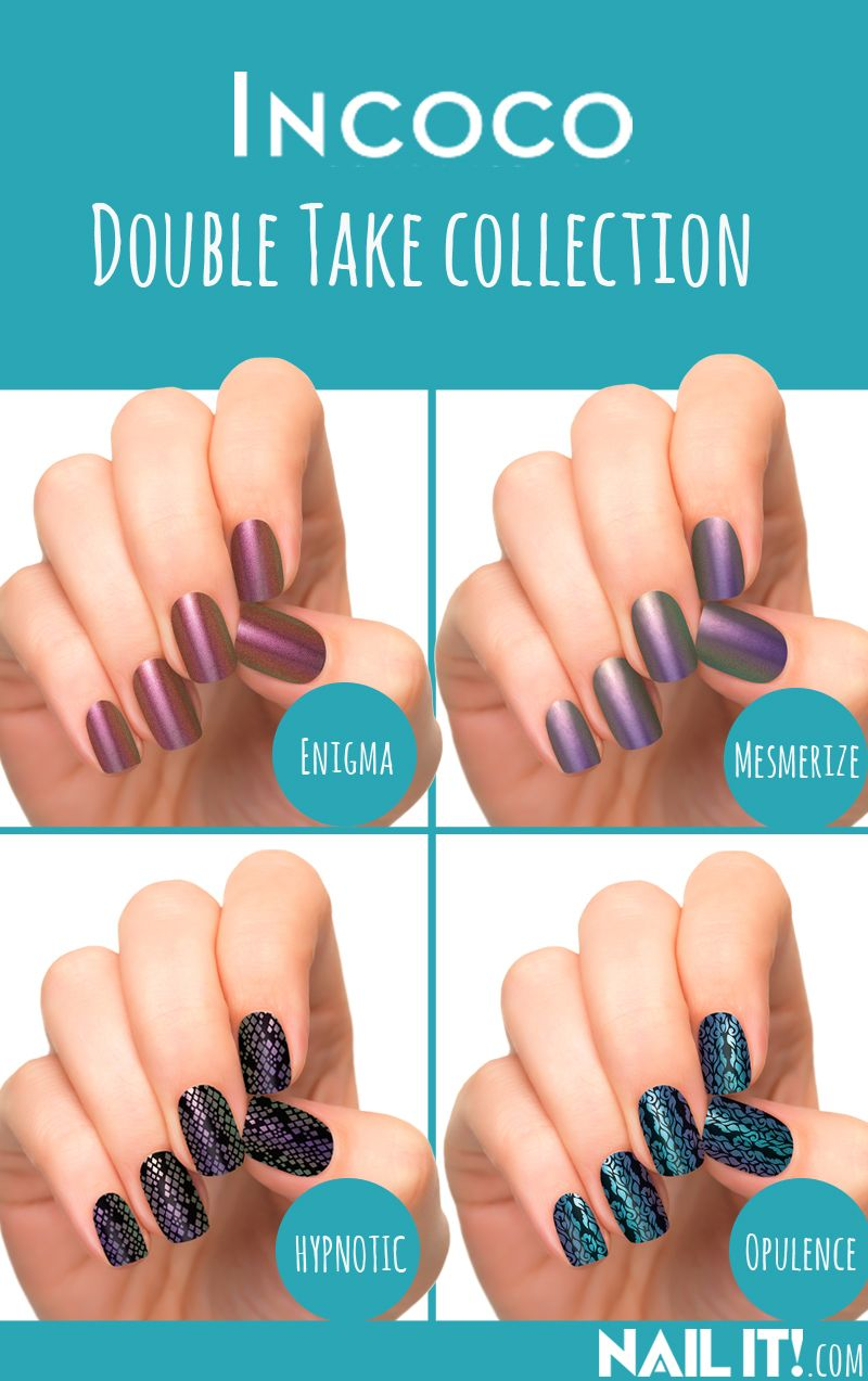 New color-shifting nail polish applique wraps from Incoco! | Nail ...
