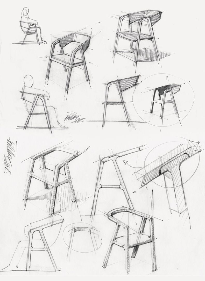 Office furniture design sketches - Austrian Product Designer Thomas Feichtner Has Collaborated With A Group Of Craftspeople To Create A Minimal Chair Using Traditional Carpentry Techniques