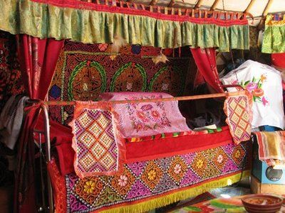 traditional kazakh embroideries.