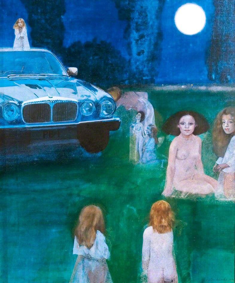 Daimler and Nymphs (1984) by Peter Blake