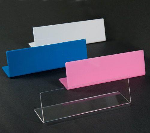 8 Inch Blank Acrylic Desk Name Plate 4 Colors Monogram Personalize Vinyl Diy Silhouette Cricut Stickers Teac Desk Name Plates Name Plate Name Plate Design