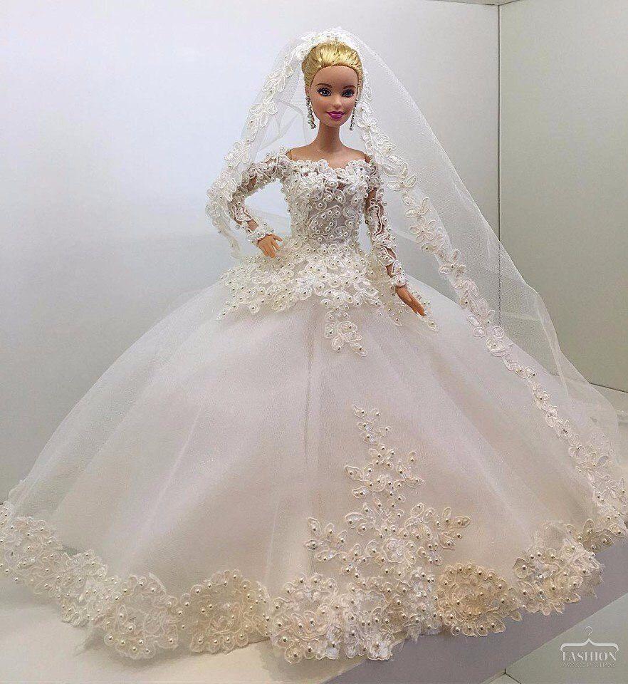 Bride gown  Braut, Hochzeit, Barbie