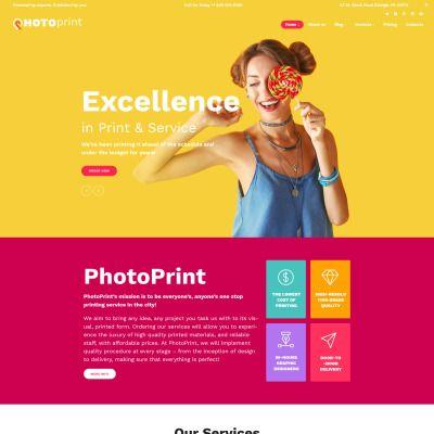 Wordpress Theme Photoprint Theme Wordpress Wordpress Theme Responsive Wordpress Theme Web Design Software